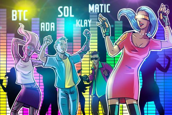 Las 5 criptomonedas a vigilar esta semana: BTC, ADA, SOL, MATIC, KLAY